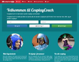 CosplayCouch.dk - Screenshot