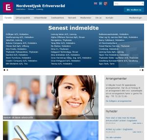 Nordvest-Erhverv.dk - Screenshot